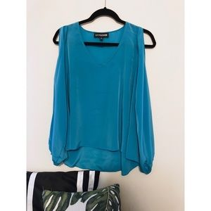 "Tops - ""Princess-Jasmine"" Colored Slit Sleeve Top (S)"